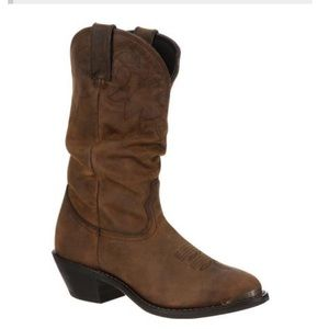 "Durango women's 11"" slouch boot tan"